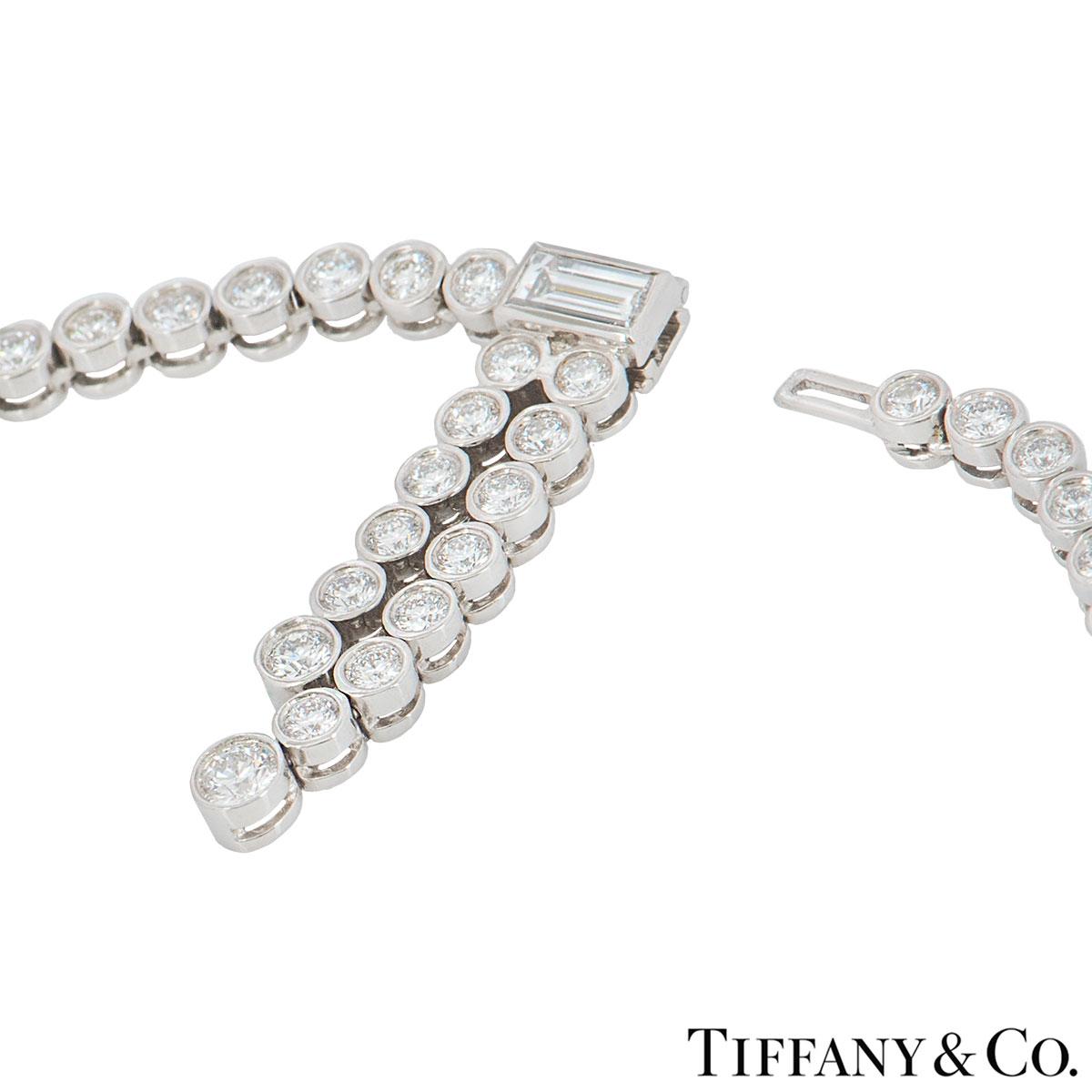 Tiffany & Co. Platinum Diamond Jazz Necklace